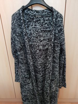 Knitted Coat white-dark blue