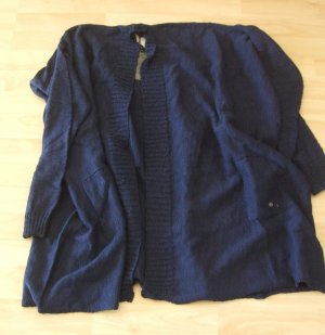 Frogbox Knitted Coat dark blue cotton