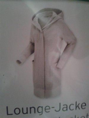Manteau à capuche gris clair coton