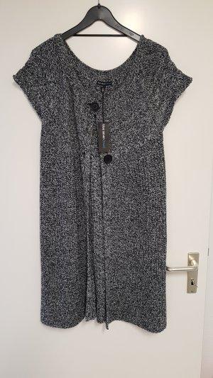 Blue Seven Gebreide jas wit-zwart