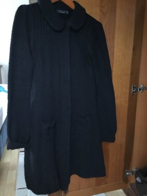 Twin-Set Simona Barbieri Manteau en tricot noir viscose