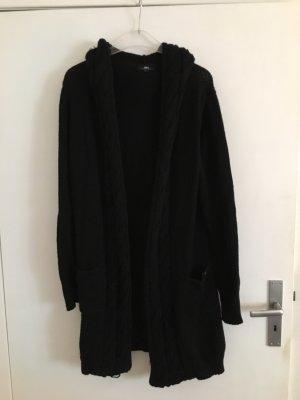 Emu Manteau en tricot noir