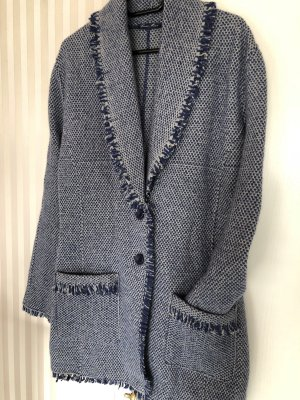 Georg Maier Knitted Coat steel blue-blue