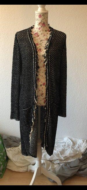 Hugo Boss Knitted Coat black-white