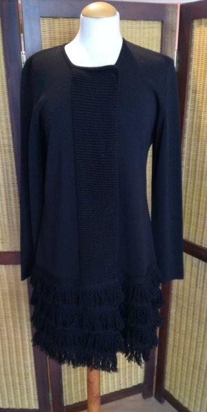Kathleen Madden Knitted Coat black mixture fibre
