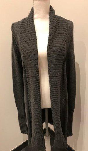 Steffen Schraut Veste tricotée en grosses mailles gris foncé