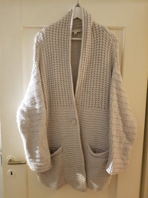 Edc Esprit Knitted Coat natural white-cream wool