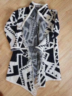 Dept Knitted Coat natural white-black