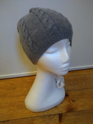 Tchibo / TCM Knitted Hat silver-colored mixture fibre