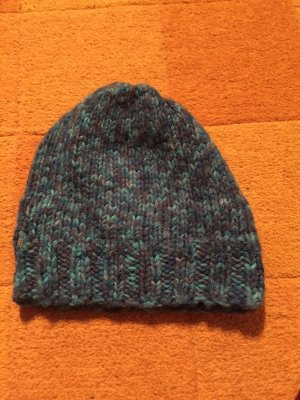 Knitted Hat light blue-neon blue