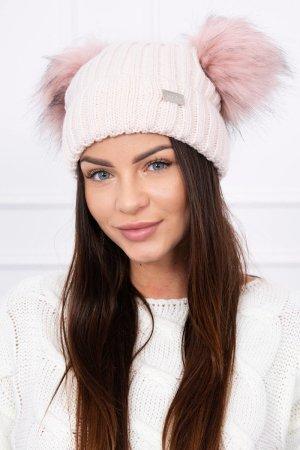 Cappello a maglia color oro rosa