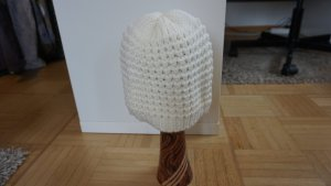 Knitted Hat white-cream polyacrylic