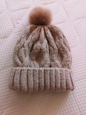H&M Chapeau en tricot vieux rose