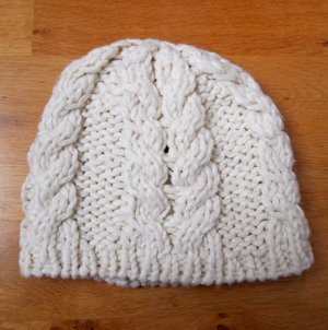 H&M Divided Beanie natural white-cream polyacrylic