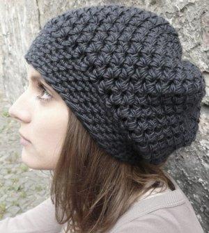 Chapeau en tricot argenté laine