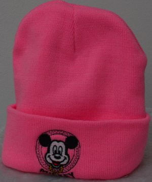 Bonnet rose fluo-rose