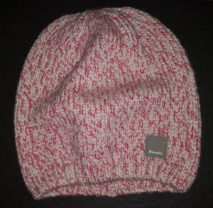 Bench Knitted Hat white-pink