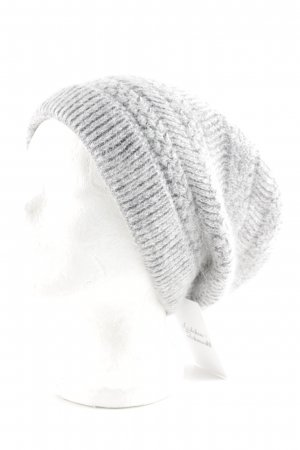 Knitted Hat pale blue-white weave pattern simple style