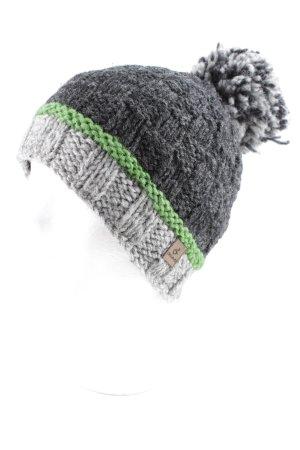 Chapeau en tricot blocage de couleur style athlétique