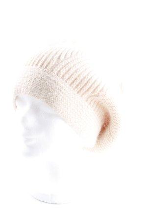 Chapeau en tricot crème molletonné
