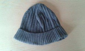 Chapeau en tricot gris foncé tissu mixte