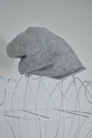 H&M Bonnet gris clair tissu mixte