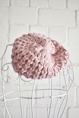 C&A Knitted Hat light pink mixture fibre
