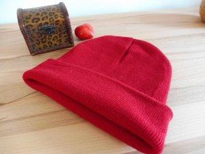 Strickmütze in Rot  One Size
