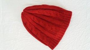 Colours of the World Chapeau en tricot rouge acrylique