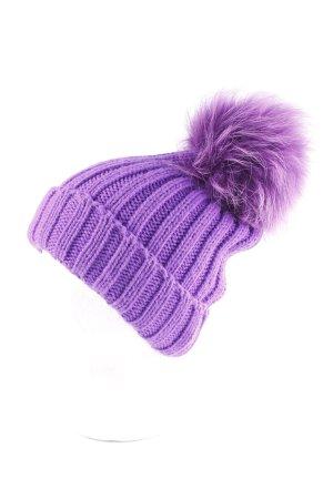 Chapeau en tricot violet-mauve style décontracté