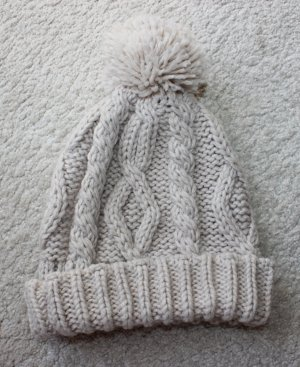 H&M Knitted Hat oatmeal-cream