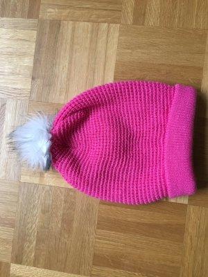 Burton Cappello a maglia rosa-bianco