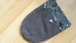 Phard Chapeau en tricot gris foncé