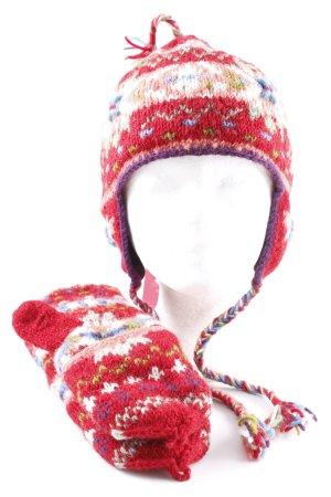 Chapeau en tricot Mélange de motifs Détails tressés