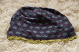 Crochet Cap multicolored angora wool