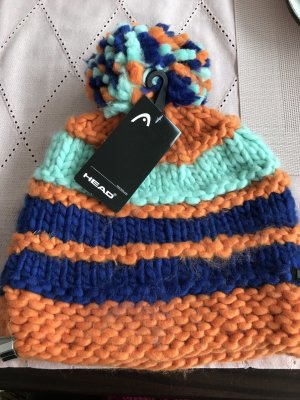 Head Knitted Hat multicolored