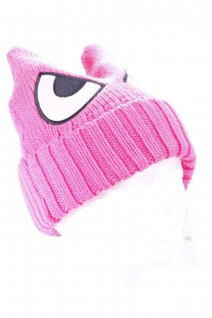 "Strickmütze pink ""Cartoon""-Optik"