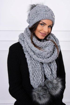 Cappello a maglia grigio chiaro-grigio