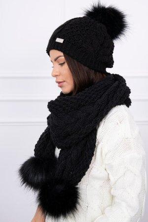 Cappello a maglia nero
