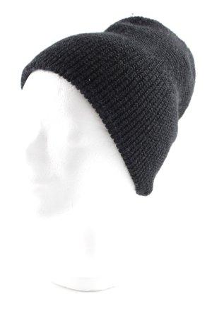 Cappello a maglia nero stile casual