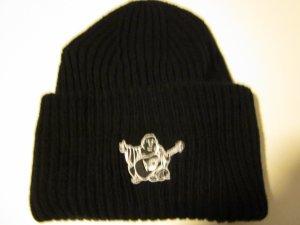 True Religion Sombrero de punto negro tejido mezclado