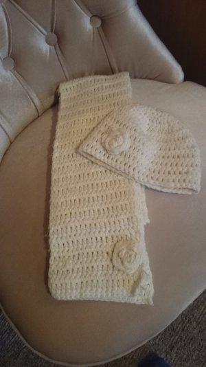3 Suisses Chapeau en tricot blanc