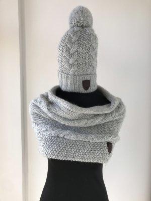 Hilfiger Sombrero de punto gris claro