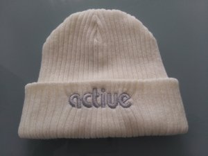 active Cap silver-colored-natural white polyacrylic
