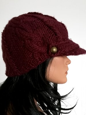 Maya Knitted Hat bordeaux-dark red