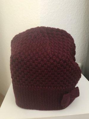 s.Oliver Chapeau en tricot rouge foncé laine
