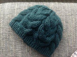 Tally Weijl Chapeau en tricot vert foncé-vert forêt