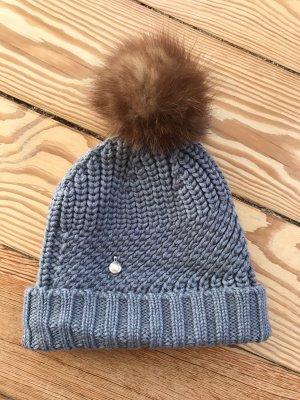 Woolrich Cappello in pelliccia grigio scuro-beige