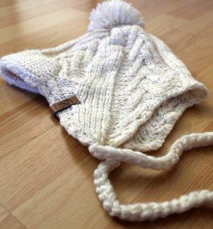 Diesel Cappello a maglia bianco sporco Tessuto misto