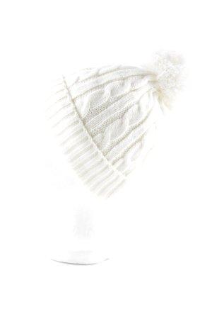 Chapeau en tricot blanc cassé style décontracté